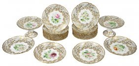 An English Porcelain Dessert Service, Possibly Samuel