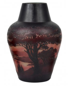 A French Cameo Glass Vase, Paul Nicolas 'd'argental',