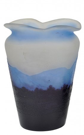 A French Cameo Glass Vase, Galle, Nancy, Early 20th