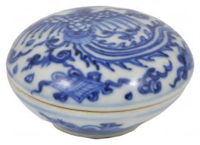 A Chinese Hatcher Cargo Blue And White Porcelain Small