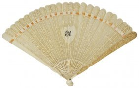 ˜a Chinese Ivory Brise Fan, Probably Canton, Second
