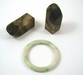 A Pair Of Chinese Soapstone Seals, 20th Century Square