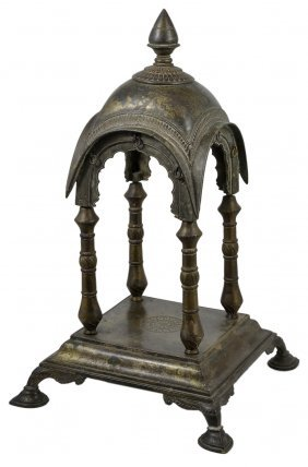 A Bronze Shrine, Western India, 19th Century Cast