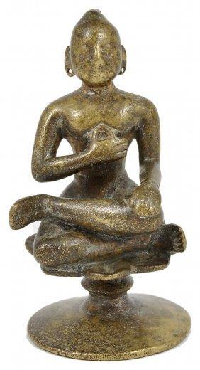 A Hindu Saint, South India, 19th Century Bronze,