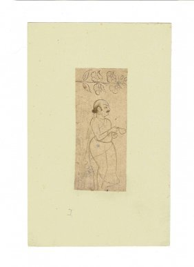Two Drawings, Northern India, First Half 19th Century