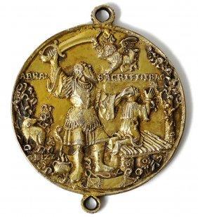 A German Silver-gilt Religious Medal, Saxon, 1607