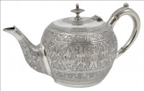 ˜a Scottish Victorian Silver Bachelor's Teapot, James