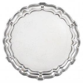 A George V Silver Waiter, Mappin & Webb Ltd., London,