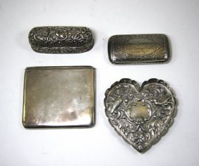 A Group Of Victorian And Edwardian Silver Smallwork
