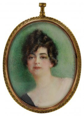 ˜a Portrait Miniature Of A Lady, By Yvonne Gregory