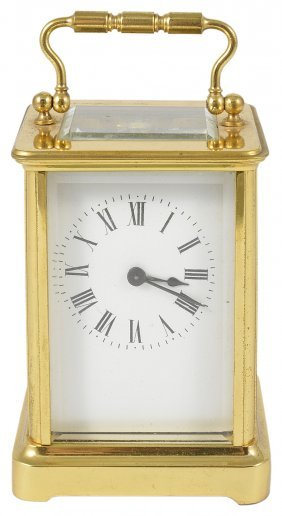 A French Gilt-brass Carriage Clock, Early 20th Century