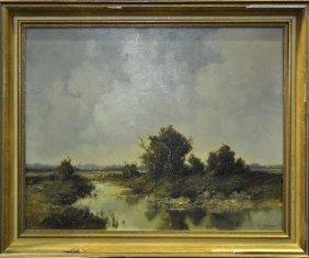"""BROECKER, E., Munich (1893-1963), """"Dachau Moss"""", Vast L"""