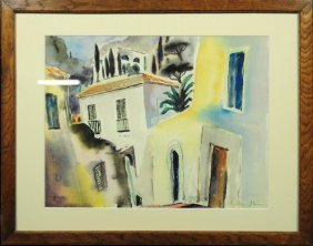 Elizabeth Balw�-Staimmer, 1876 - 1973, Watercolor, Sign