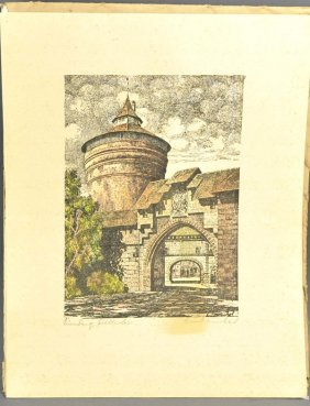 "KRAWINKEL (1937), 6 Hand-colored Lithographs, ""That Was"