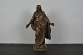 "Bronze Sculpture ""Standing Christ"" Fine Shape In 1900,"