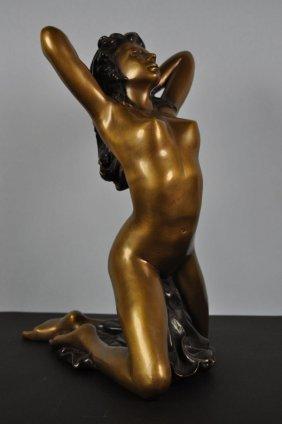 Act Representation Of A Girl, Bronze, Modern Style, Aro
