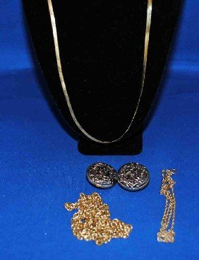 Assorted Gold And Costume Jewlry