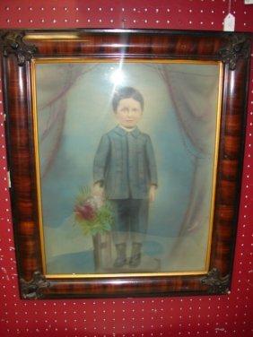 Framed Photo Of Little Boy