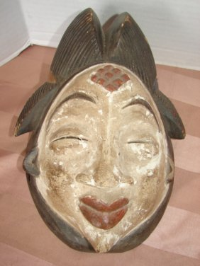 Oriental Carved Wood Mask