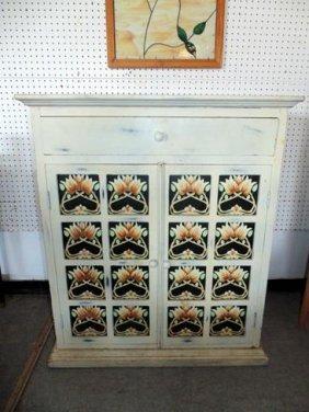 Tile Front Cabinet
