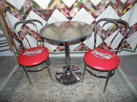 Coca Cola Soda Fountain Table & Chairs