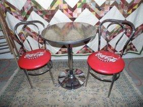 Coca Cola Soda Fountain Table & Chairs