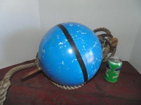 Marine Blue Buoy With Rope