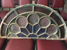 Cast Iron & Stain Glass Window