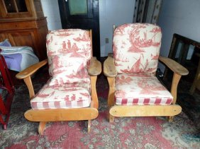 Maple Flat Arm Chairs