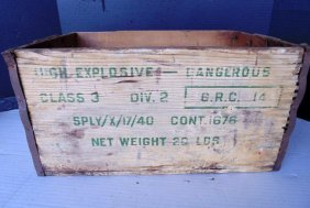 Wood Explosives Crate