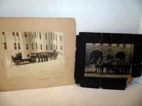 Early Firemen & Fire Truck Photographs