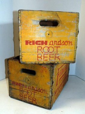 Richardson's Root Beer Wood Advertising Crates