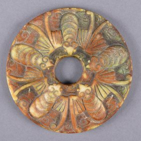 Old Chinese Jade Bi Disc