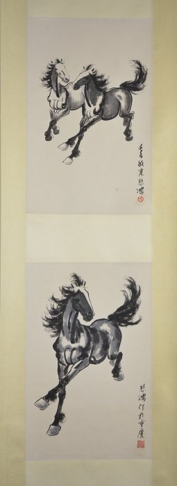Xu Beihong Chinese Watercolour Hanging Scroll