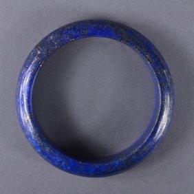 Chinese Carved Lapis Lazuli Bangle