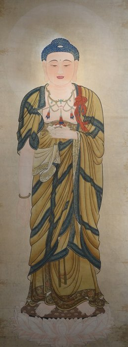 Chinese Watercolour On Paper: Guanyin