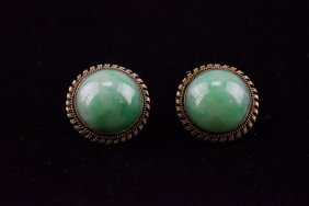 Chinese apple green jadeite silver earring set lot 219 for Furniture 888 formerly green apple