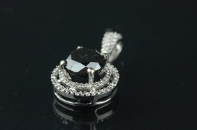 14k Gold Black/white Diamond Pendant Crv $3150