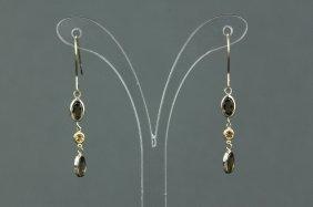 10k Gold Quartz Drop Earrings Appraised $572