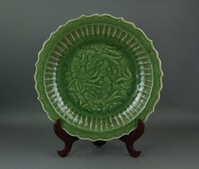 Ming Longquan Chinese Celadon Porcelain Charger