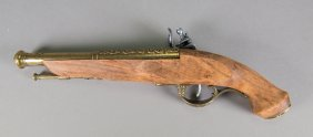 European Old Flintlock Pistol