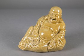 Republic Period Chinese Porcelain Buddha Figure