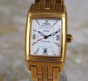 Jaeger Lecoultre 18k Gold Reverso Gran Sport Watch