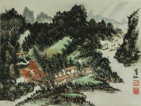 Watercolour On Paper Huang Binhong 1865-1955