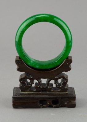 Chinese Emerald Green Hardstone Bangle