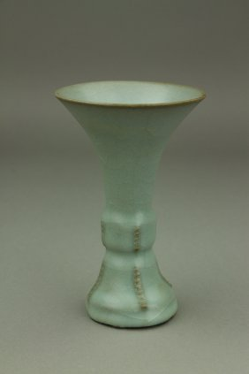 Chinese Guan Type Celadon Porcelain Vase