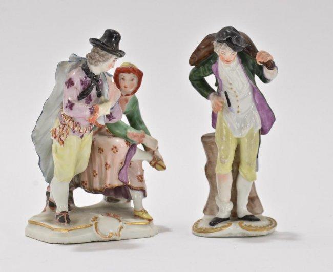 two ludwigsburg porcelain figurines lot 189. Black Bedroom Furniture Sets. Home Design Ideas