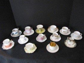13 Assorted Demitasse Cups