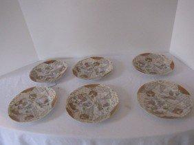 "6 Nippon Satsuma 6"" Plates"