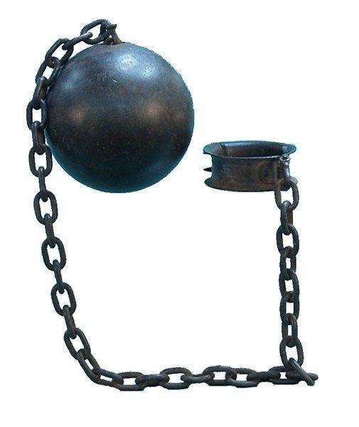 Antique cast iron ball chain lot